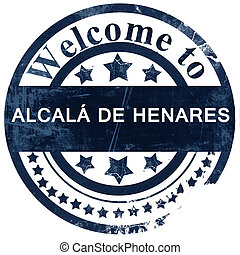 Alcala de henares stamp on white background