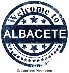 Albacete stamp on white background