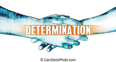 Determination Concept with Businessmen Handshake on White...