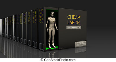 Cheap Labor Endless Supply of Labor in Job Market Concept