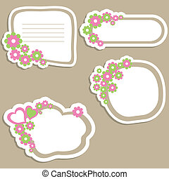 Flower banners vector illustration
