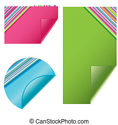Blank vector sticky notes