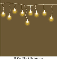 Abstract background with Bulb.