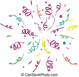 confetti light background vector illustration