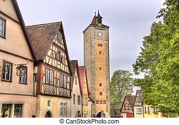 Tower of Rothenburg ob der Tauber, Germany - Tower and...
