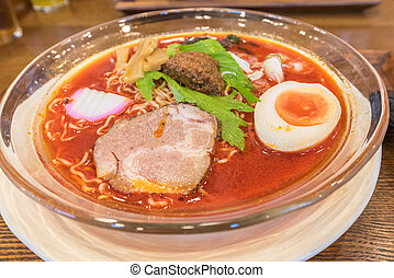 Spicy Hida Takayama Ramen in Chubu of Japan