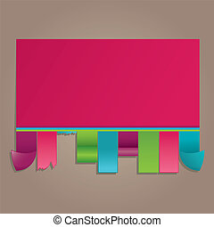 Colorful announcement vector illustration