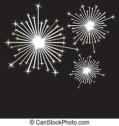 Firework in honor of Independence Day Vector Illustration