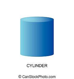 3d shape-CYLINDER vector - image of 3d shape for kid...