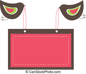 banners with two birds. vector illustration