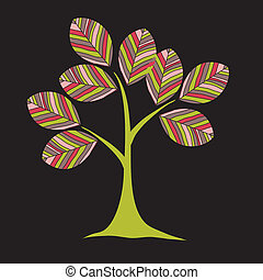 card design with stylized trees and text vector illustration...