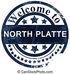 north platte stamp on white background