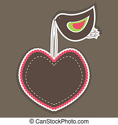 Heart Shaped banners. vector