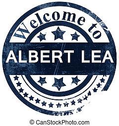 albert lea stamp on white background