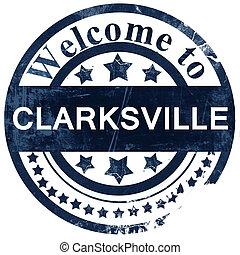 clarksville stamp on white background