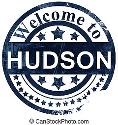 hudson stamp on white background