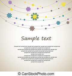 Abstract background design with flowers. Vector Illustration