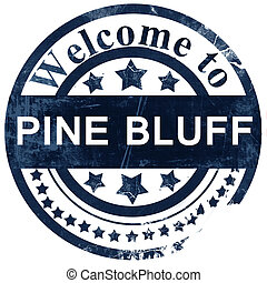 pine bluff stamp on white background