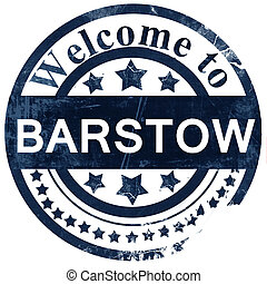 barstow stamp on white background
