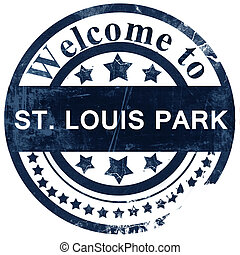 st. louis park stamp on white background