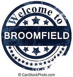 broomfield stamp on white background
