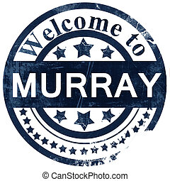 murray stamp on white background