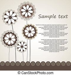 Abstract background with flowers - Abstract background...