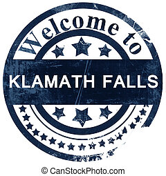 klamath falls stamp on white background