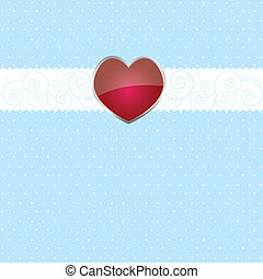 Colorful background with ribbon