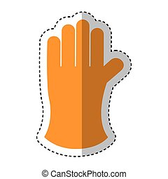 gloves gardening isolated icon vector illustration design