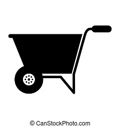 wheelbarrow tool gardening tool vector illustration design
