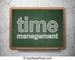 Timeline concept: Time Management on chalkboard background -...