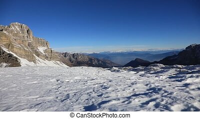 Dolomites in Madonna di Campiglio - Mountain landscape of...