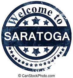 saratoga stamp on white background