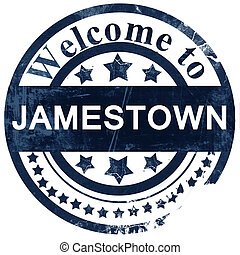 jamestown stamp on white background