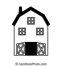 farm stable isolated icon vector illustration design