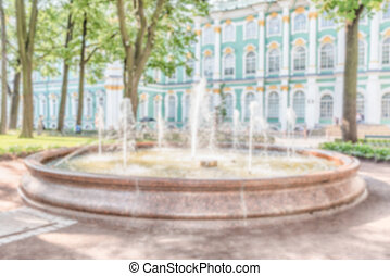 Defocused background, courtyard of the Winter Palace, St....