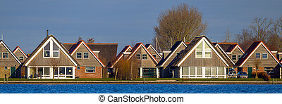 Panorama of Holiday resort houses Terherne - Panorama...