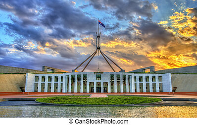 casa, parlamento,  Austrália,  canberra