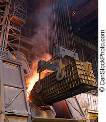 Factory production of steel