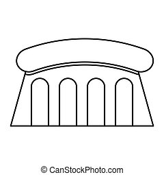 dam Hydroelectric isolated icon vector illustration design