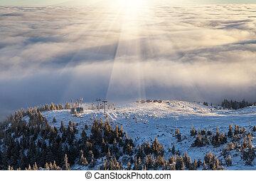 winter Carpathians landscape, Europe mountains, wonderful...