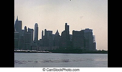 seventies Twin Towers - New York vintage footage on 1970...