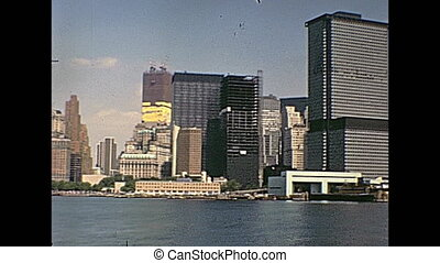 WTC New York - Manhattan World Trade Center skyline on...