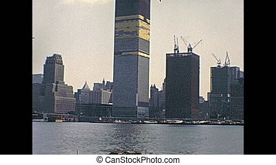 World Trade Center - New York vintage footage on 1970 about...