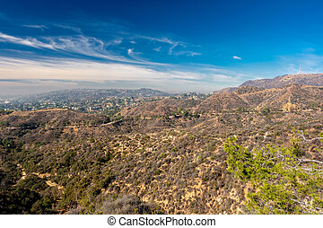 Griffith Park and Hollywood, Los Angeles, California - View...
