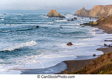 USA Pacific coast landscape, California, USA.