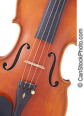 Violin Viola Isolated on White