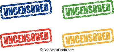 uncensored stamp set