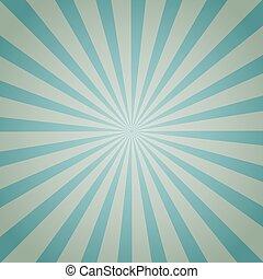 Light blue color burst background. Vector illustration